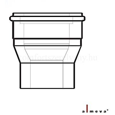 Almeva LIK koncentrikus bővítő idom 60/100-80/125 mm PPH/PPH