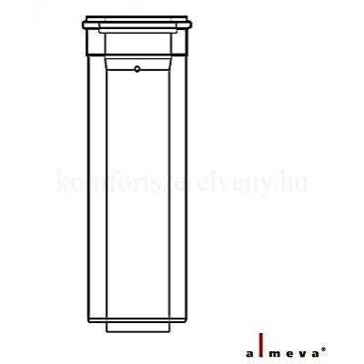 Almeva LIK koncentrikus füstcső 1 m 80/125 mm PPH/PPH