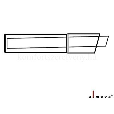 Almeva LIK koncentrikus oldalfali kivezetés 1,05 m 60/100 mm PPH/PPH
