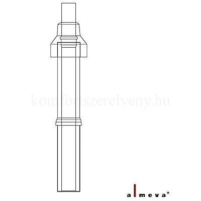 Almeva LIK koncentrikus tetőátvezető idom (komplett) 1,1 m 80/125 mm PPH/PPH