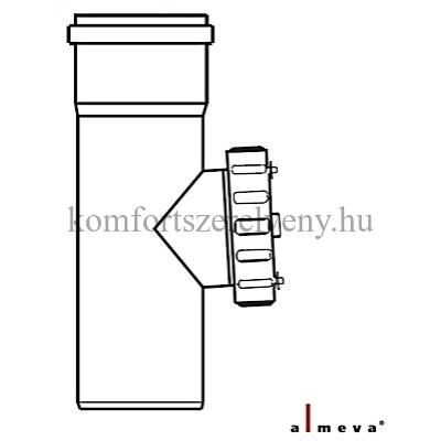 Almeva STARR szimpla falú ellenőrző egyenes idom 80 mm PPH