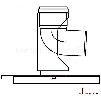 Almeva STARR szimpla falú talpas bekötő könyök idom 60 mm PPH