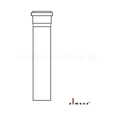 Almeva STARR szimpla falú füstcső 0,5 m 80 mm PPH