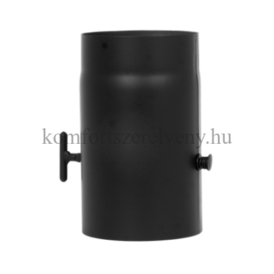 KoloTech fekete füstcső pillangószelepes 130/250 mm