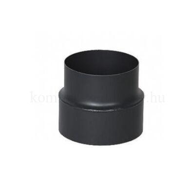 KoloTech fekete füstcső szűkítő 150-120 mm