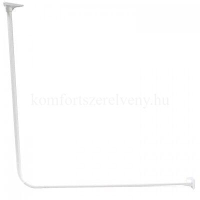 Zuhanyfüggöny tartó szögletes 90 x 90 cm